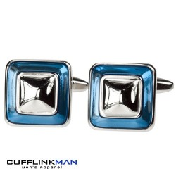 Blue Pyramid Cufflinks