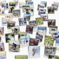 Your Photo or Your Design Cufflinks- Personalised Square Cufflinks