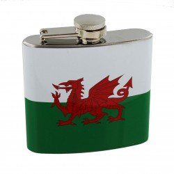 Welsh Flag Hip Flask