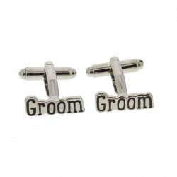 Modern Lines Groom Cufflinks