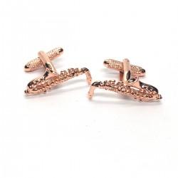 Rose Gold Saxophone Cufflinks