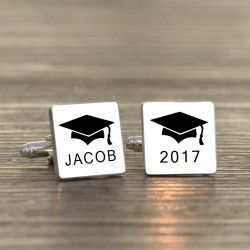 Engraved Graduation Cufflinks -Personalised
