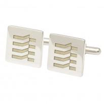 Bespoke Sterling Silver Engraved Cufflinks