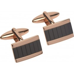 Rose Gold and Black - Designer Cufflinks