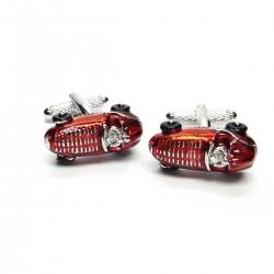 Retro Red Racing Car Cufflinks