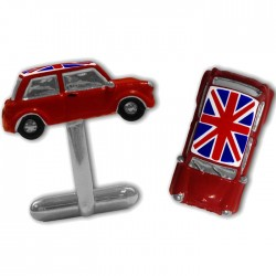Red Union Jack Mini 3D Cufflinks