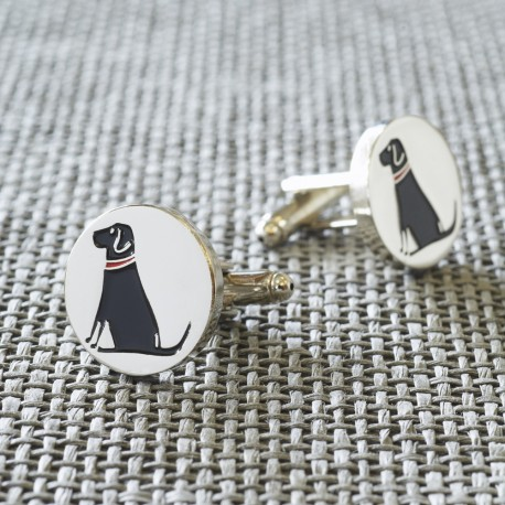 Black Labrador Dog Cufflinks