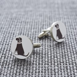 Chocolate Labrador Dog Cufflinks