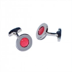 Red Speckled Polka Dot Cufflinks