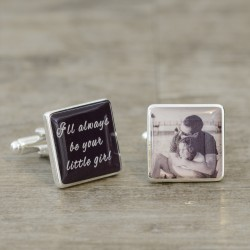 I'll Always be your little girl - Personalised Photo Cufflinks