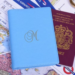 Personalised Blue Passport Holder