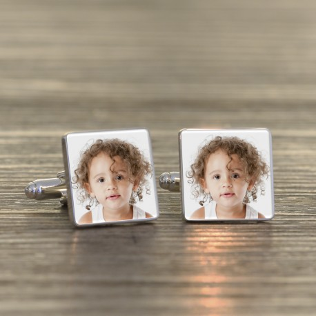 Photo Cufflinks - Any Photo- Personalised Cufflinks