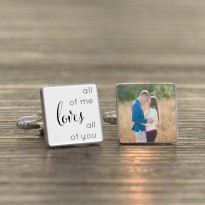 All Of Me Loves - Personalised Photo Cufflinks