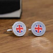 Personalised Union Jack Flag Cufflinks