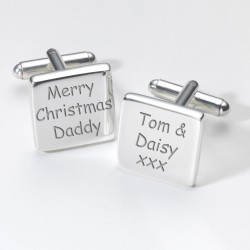 Merry Christmas Grandad Personalised Cufflinks