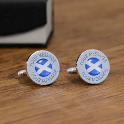 Personalised Scottish Flag Cufflinks