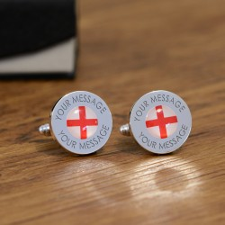 Personalised St George Cross Flag Cufflinks
