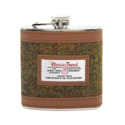 Harris Tweed Stornoway Hip Flask - By The British Bag Company