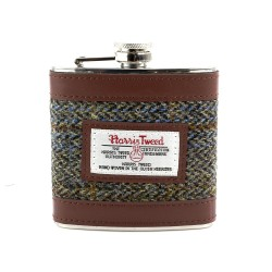 Harris Tweed Hip Flask Carloway