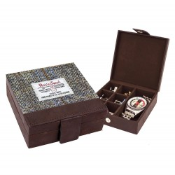 Carloway Harris Tweed Cufflinks Case