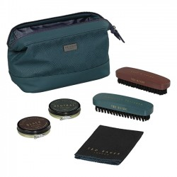 TED BAKER Teal Shoe Shine Kit