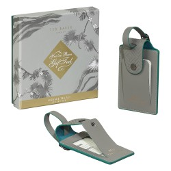 Ted Baker Ash Grey Luggage Tags - Set Of 2
