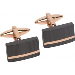 Rose Gold and Carbon Cufflinks