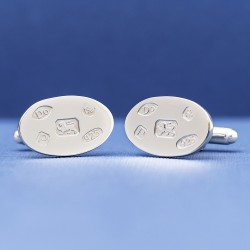 925 Silver Hallmarked Cufflinks | Hallmark Design Silver Cufflinks