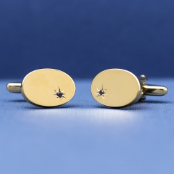 Esquire - Sapphire with Gold Plate Cufflinks