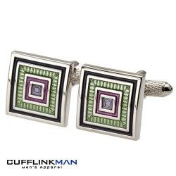 JUMP Green and Lime Cufflinks