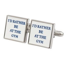 I'd Rather Be At The Gym Cufflinks