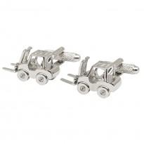 Forklift Truck Cufflinks - Silver Edition