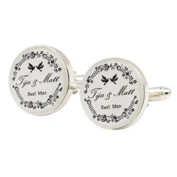 Any Design Wedding Cufflinks | Personalised Wedding Design Cufflinks