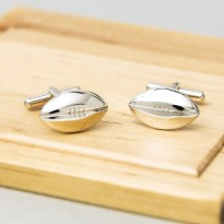 Rugby Ball Cufflinks Sterling Silver