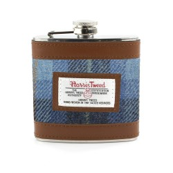 Harris Tweed Carloway Hip Flask - By The British Bag Company