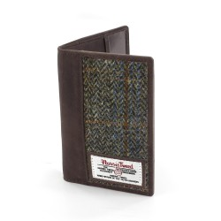 Harris Tweed Passport Holder Carloway Tartan
