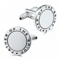 Initial Engraved Eternal Father of the Bride Weddings Cufflinks