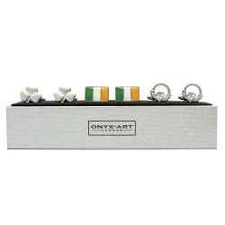 Irish Cufflinks - 3 Pairs Gift Set - By Onyx-Art