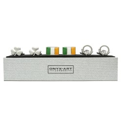 Irish Cufflinks 3 Pairs Gift Set