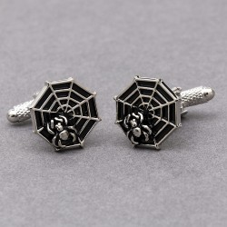 Spiders Web Cufflinks | Insect Cufflinks