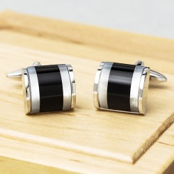 James Kinross Top Drawer Onyx Cufflinks