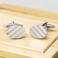 Pembroke Oval Lined Cufflinks