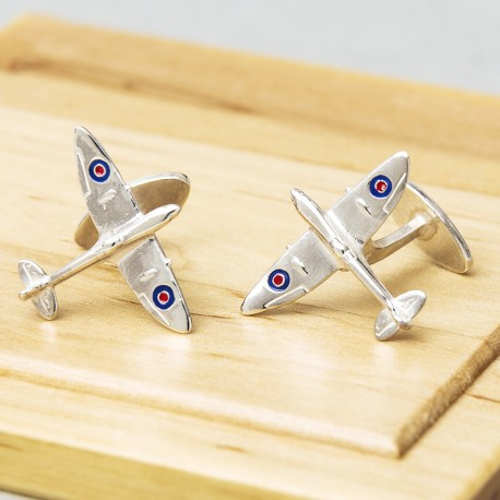 Sterling Silver Spitfire Aeroplane Cufflinks