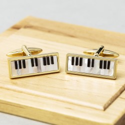 Piano Cufflinks - Mother of Pearl & Onyx