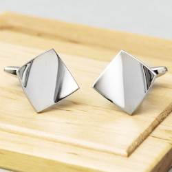 James Kinross Cando Curl Cufflinks - Silver Edition