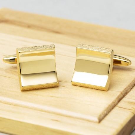 Arched Illusion Cufflinks - Gold Edition