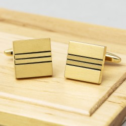 Square River Cufflinks - Gold Edition