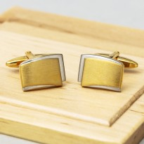 Eden Brushed Gold Cufflinks