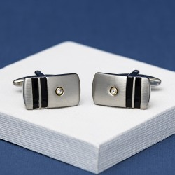 Vianta Crystal Stripe Cufflinks Andrew Worth