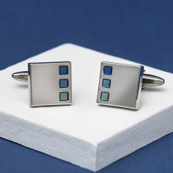 Sonar Blues Cufflinks Andrew Worth